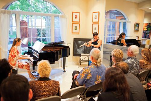 Julia Barnett (flute), Natasha Marin (piano)
