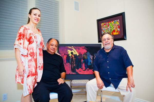 Natasha and Cheech Marin, artists John Valade